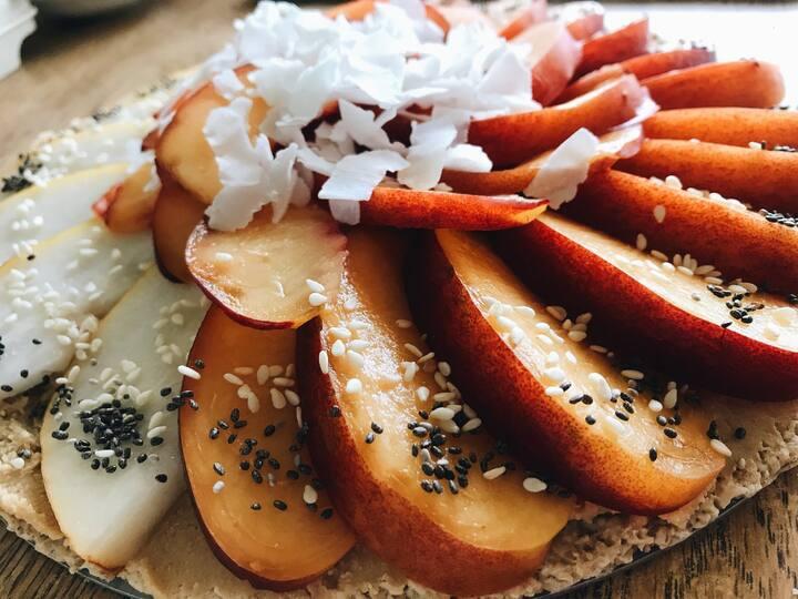 Tarta Crudi-Vegana Durazno