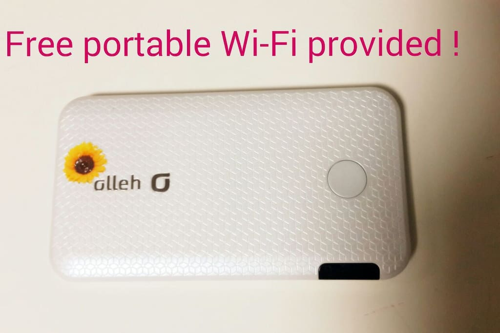 ★open event★Free Portable Wi-Fi provided.(If you rent a mobile hotspot in Korea, it'll cost about $10 a day) Save your money!