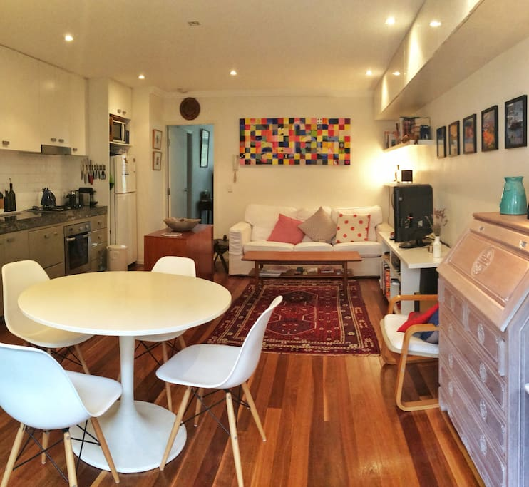 Living Room + Dining Area