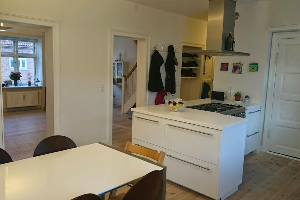 The Kitchen, and the living room behind