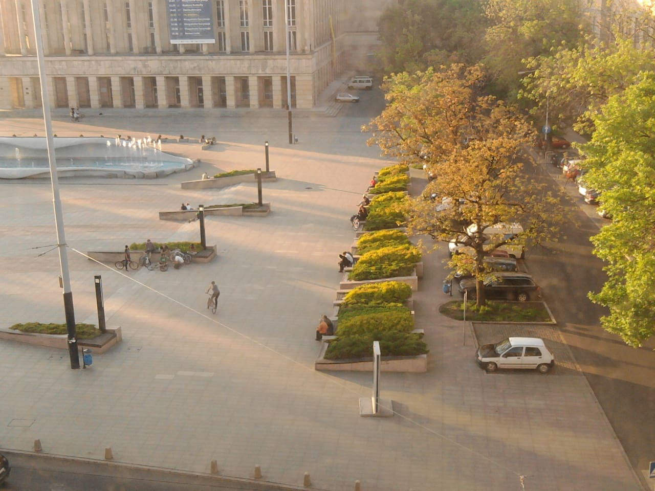 public square, Grand Theatre, view from the apartment's windows.