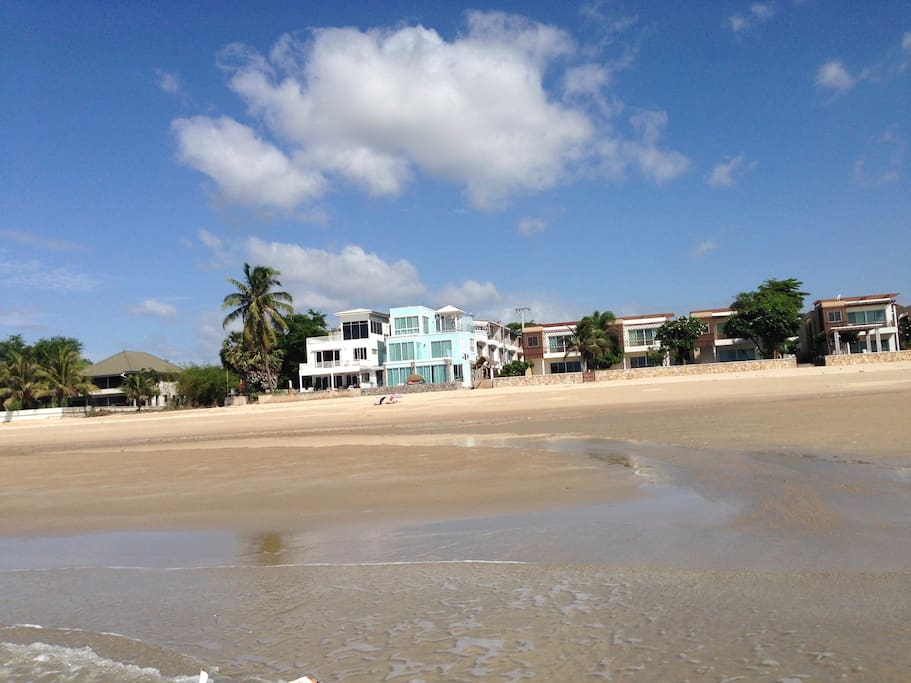 view from the beach to townhouse