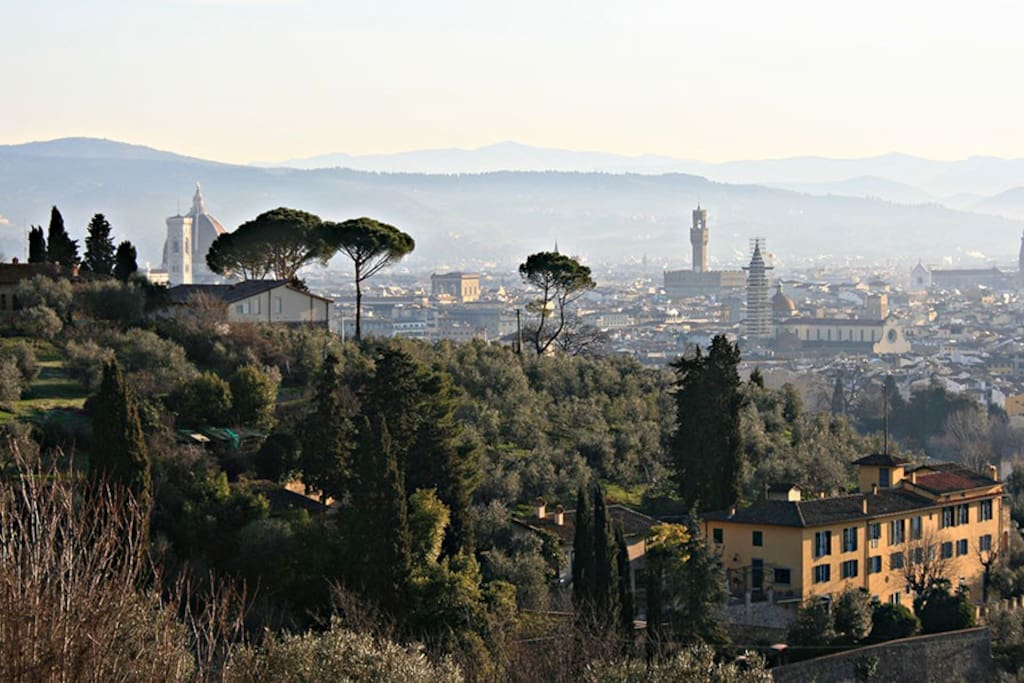 Florence view from Bellosguardo hill