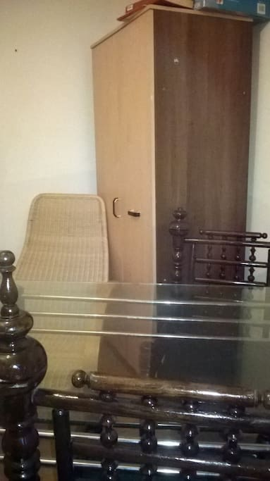 Glass dinning table and wardrobe