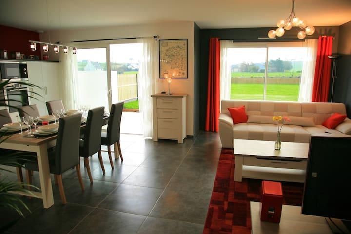maison  en bord de mer, 85 m2 - Goulven - Dom