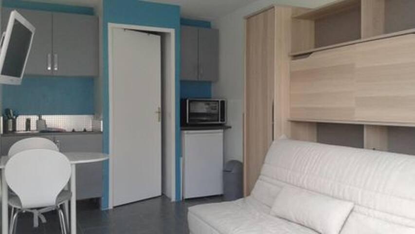studio équipé, récent et lumineux  - Briscous - Apartment