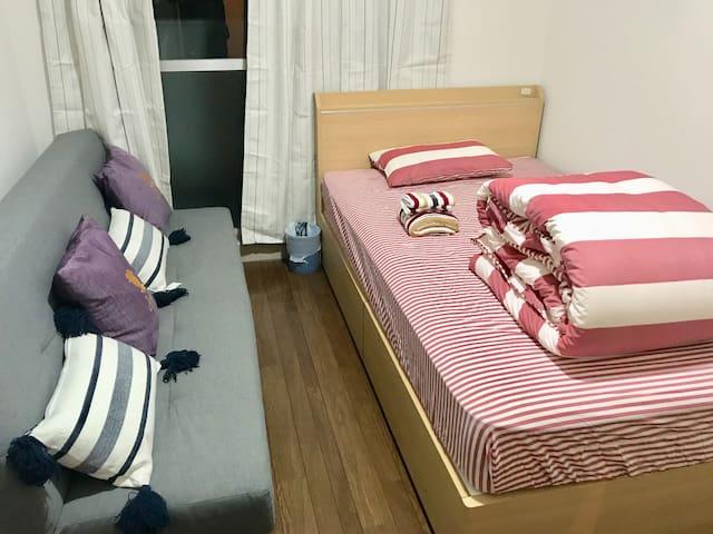 Near JR#5mins to HAKATA JR&cozy・cheap&free wifi