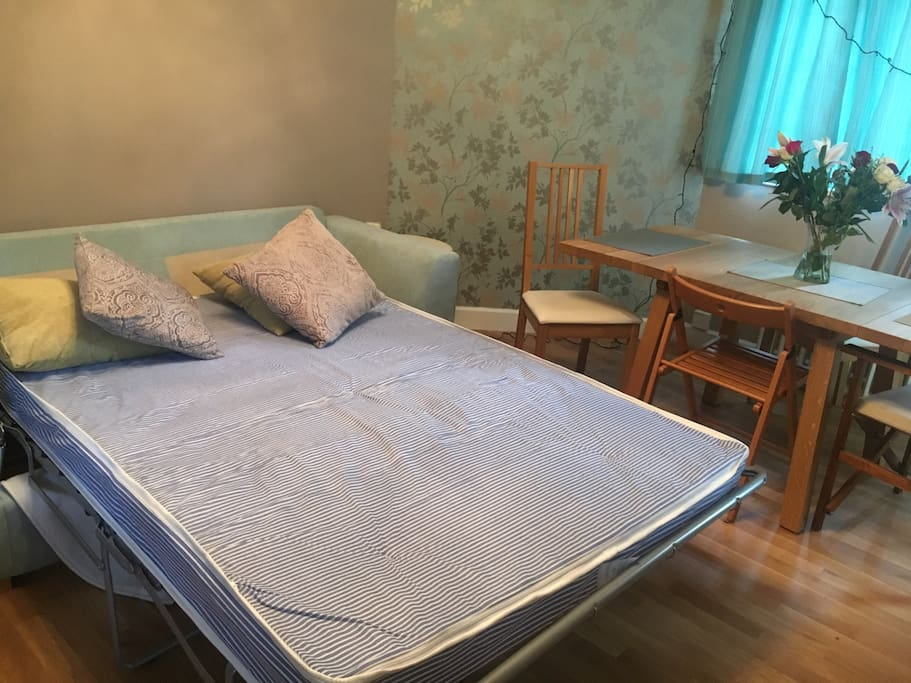 Double Sofa bed, available linen on request