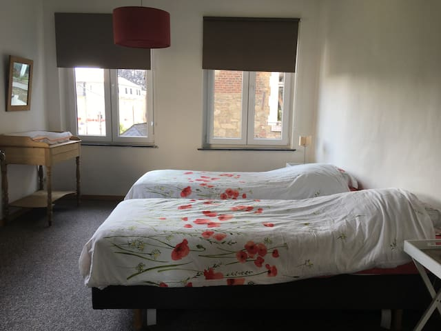 chambre n°2 - 2 lits simples convertible en lit double
