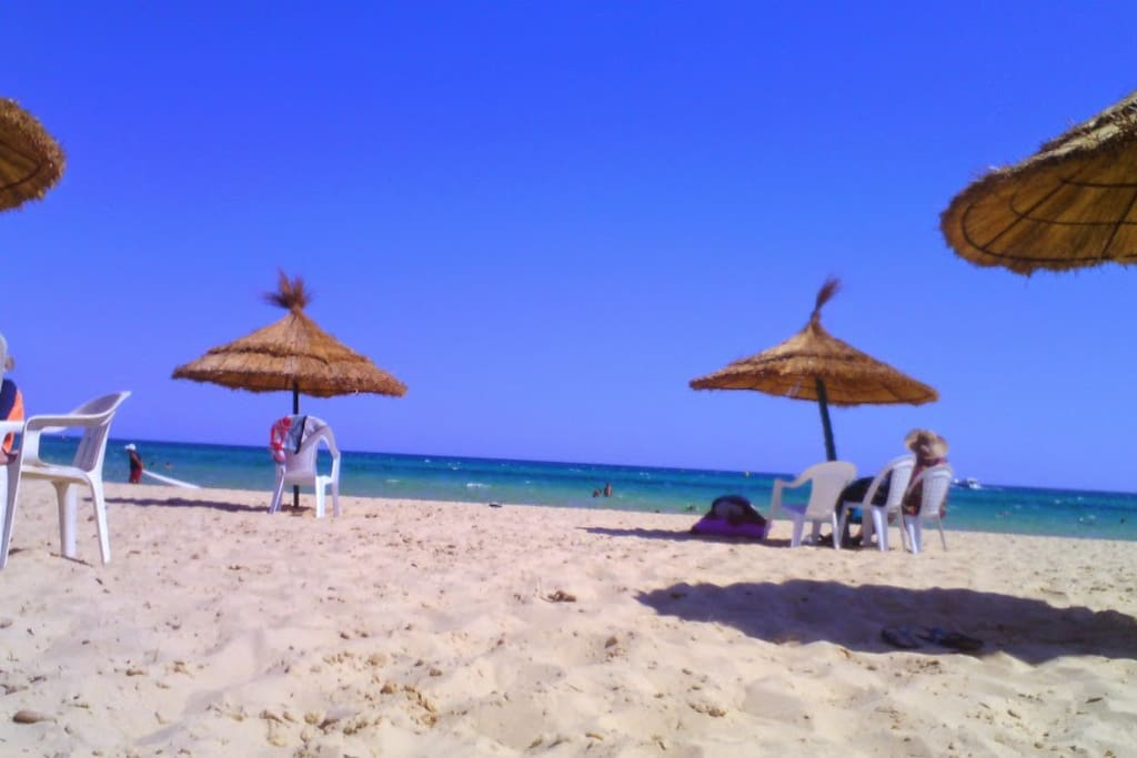 plage privé à 300 m