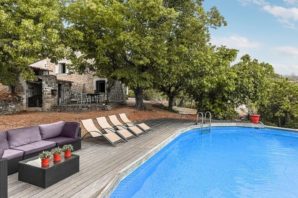 mas de la roche fayence renov mas from 1750 villas for rent in fayence provence alpes. Black Bedroom Furniture Sets. Home Design Ideas