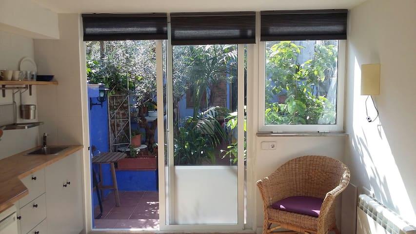 Estudio con jardín