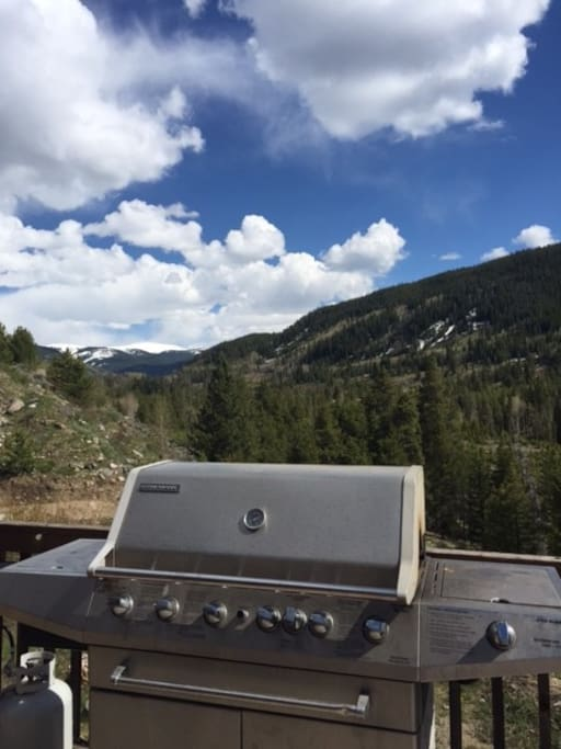 Grill on front deck