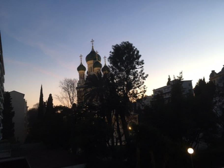 Vue du séjour Église russe