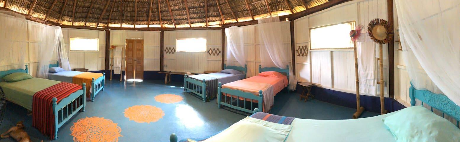 Multi guest dorm/ palapa, Laguna de Apoyo