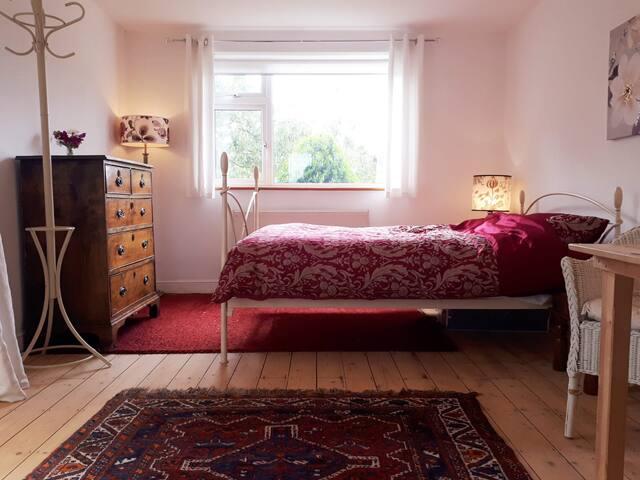 Sunny annex room en - suite in family home