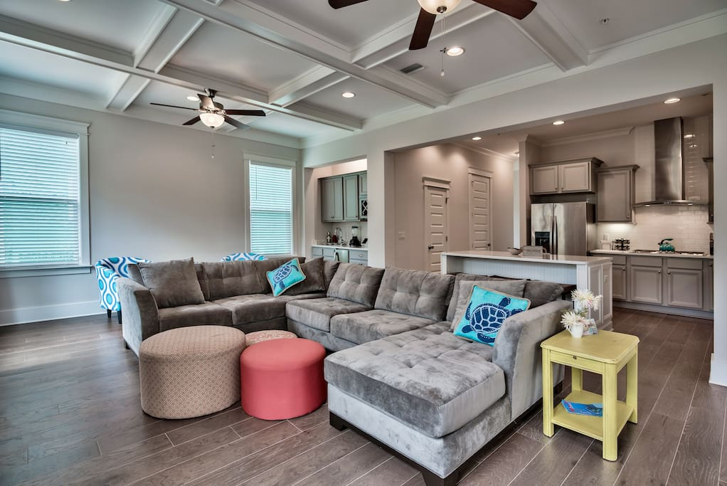 The open concept floor plan is perfect for groups