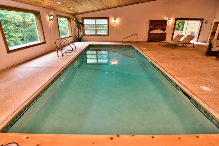 INDOOR POOL OPEN YEAR ROUND ~ 7000 SQF MANSION