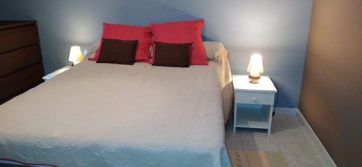 Chambre privée, propre,  calme et sécurisée