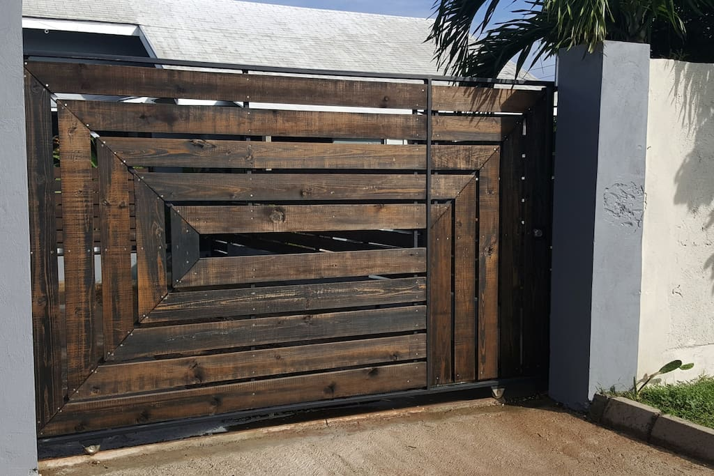 Private Entry gate and Parking.
