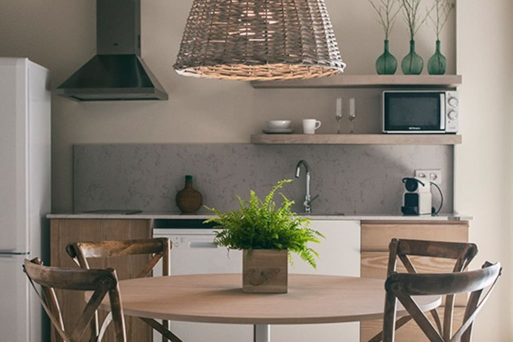 Living room: Kitchen