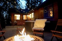 Enjoy the Fire Pit, Lights and Stars