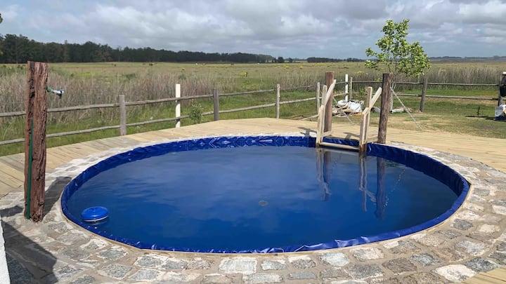 Casa conteiner con piscina en Jose Ignacio.