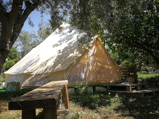"Our glamping tent ""Gelso bianco"""
