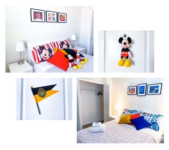 TWO BEDROOMS + PRIVATE BATH / Near Disney & Outlet