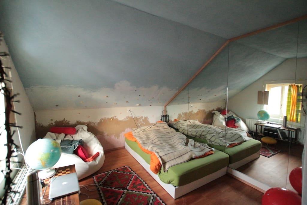 Mansarden Zimmer