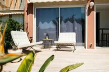 lounge area on the terrace...