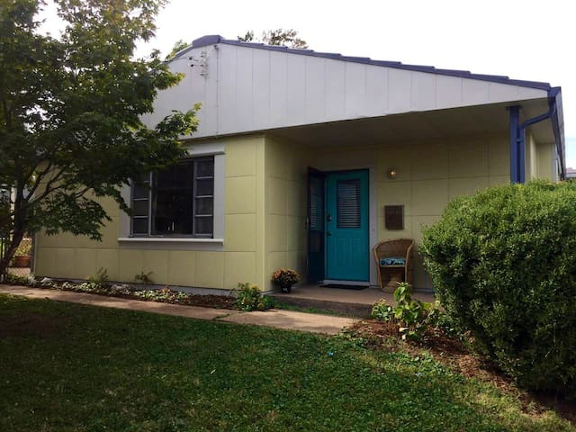 Vintage 1950's Lustron house.  Hip and Historic!