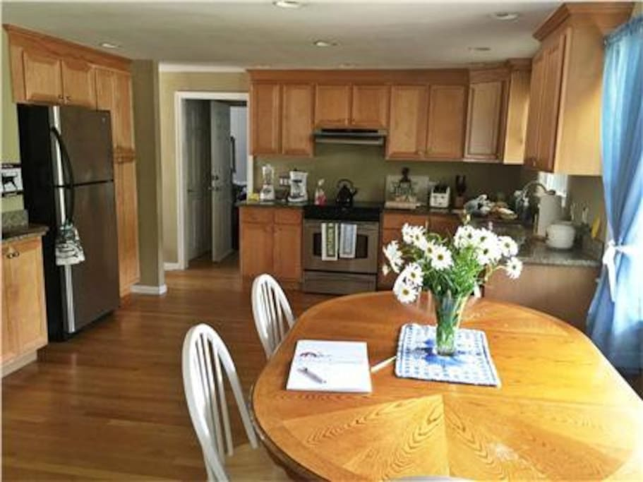 Nice sized kitchen with eating area.