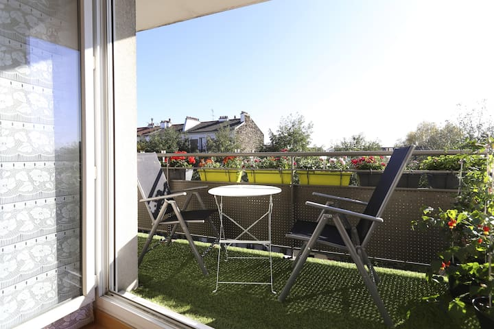 2 rooms with balcony-3mn from Paris - Ivry-sur-Seine - Appartement