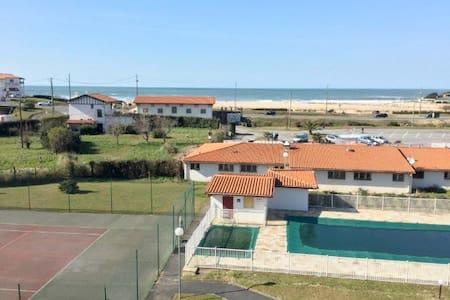 Bidart face plage Uhabia, tennis et piscine privés - Bidart - Wohnung