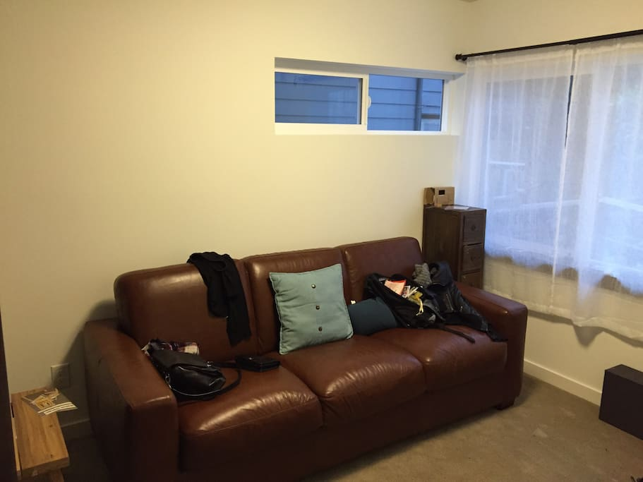 1st bedroom fold out couch (very comfortable)