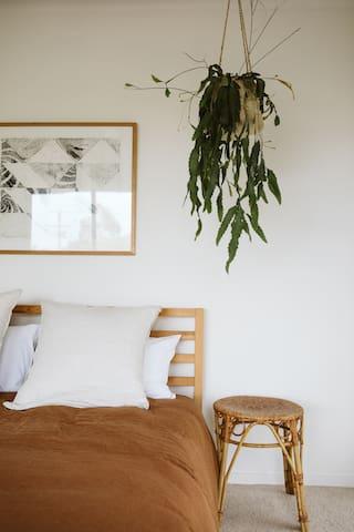 Bedroom 3: downstairs, queen bed