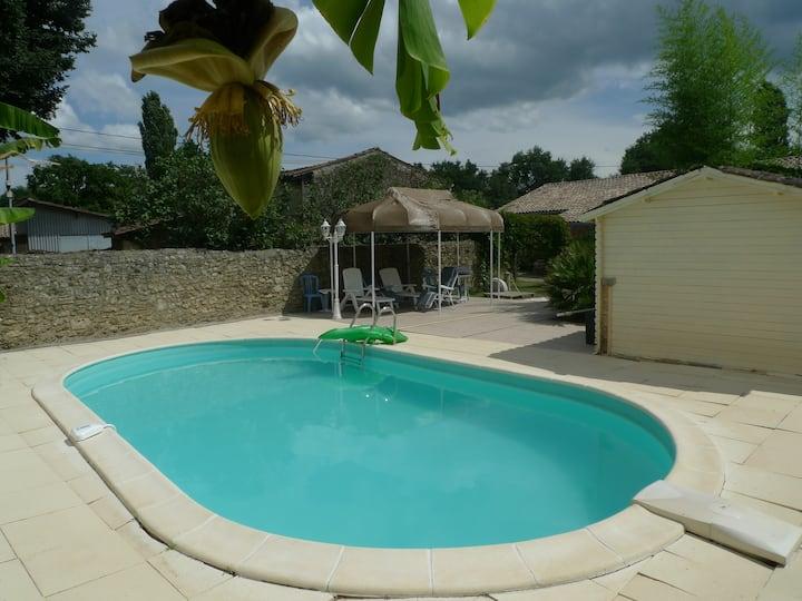 Maison sud Gironde avec piscine