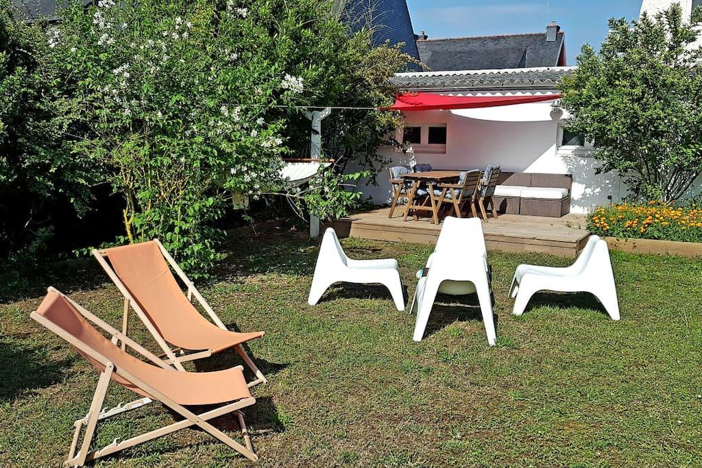 Jardin, terrasse, BBQ & Hamac