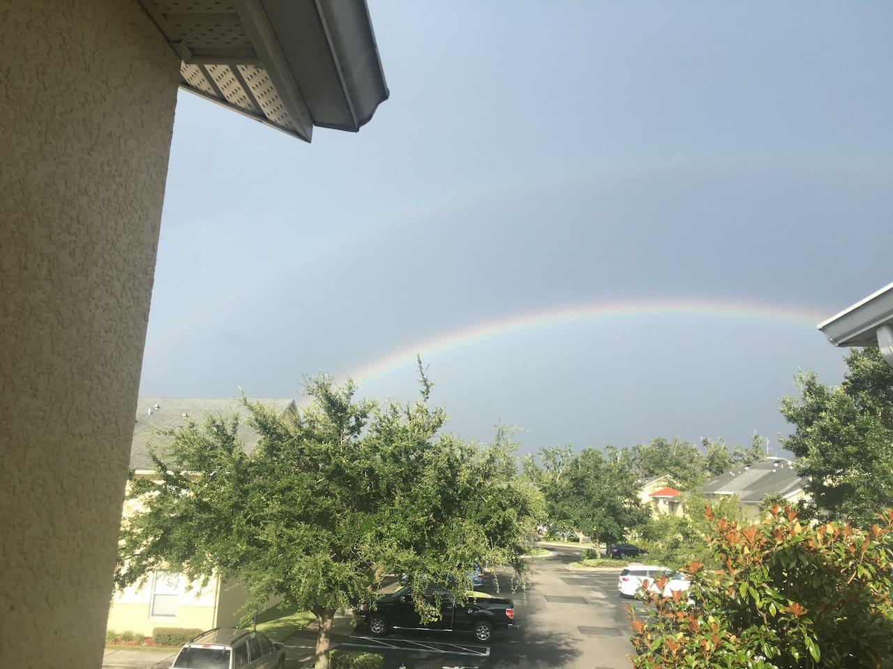 rainbows looking from the door