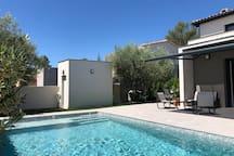 Grande maison avec piscine