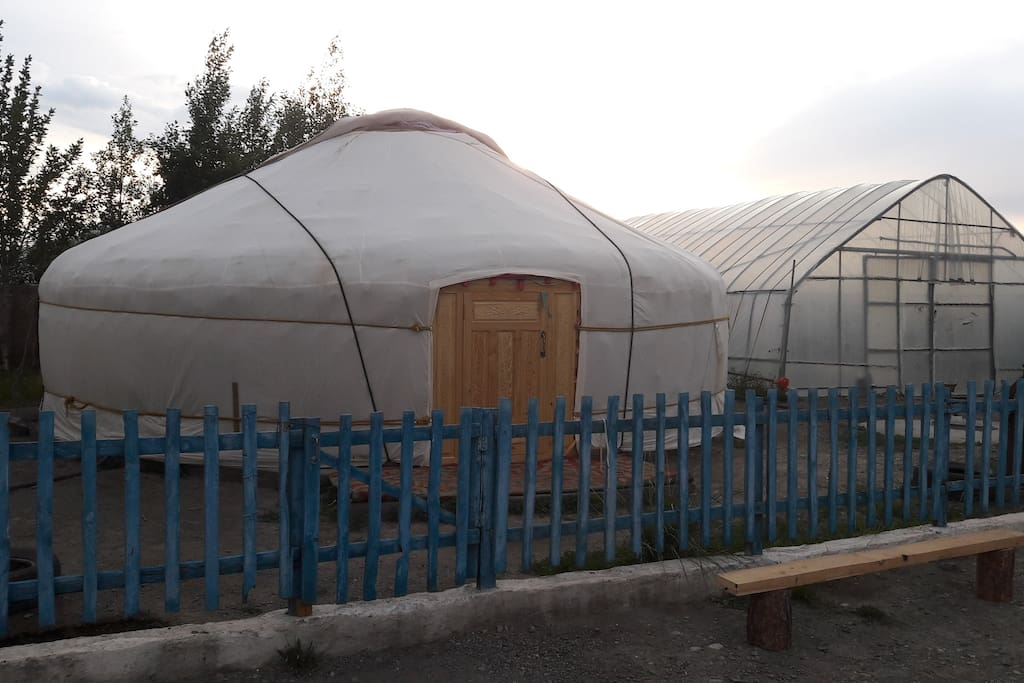 This is a large Kazakh style Ger (yurt)