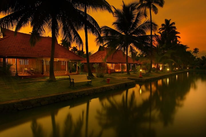 Kerala Heritage Wooden Cottage Deluxe/Twin/ Double