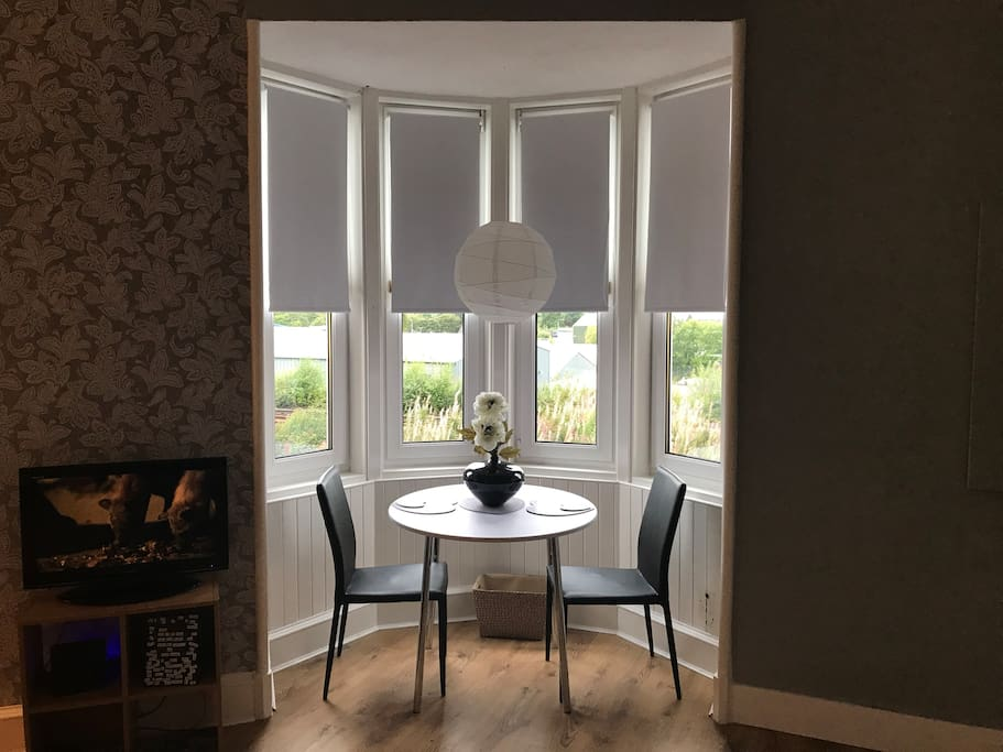 Charming period feature bay window dining area