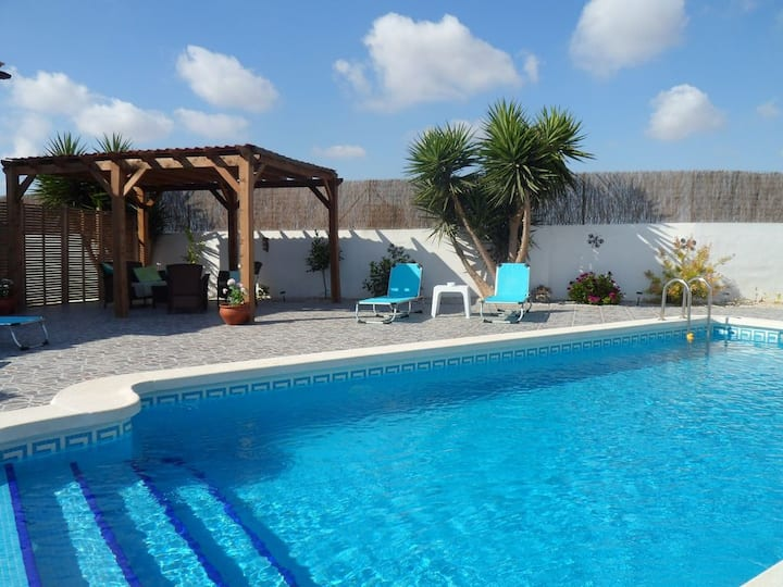 Detached Villa with Private Pool, Murcia, Sleeps 8