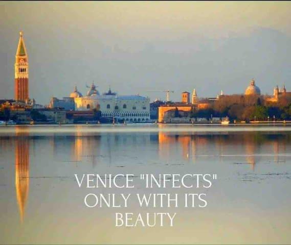 Romantic view over venitian canals