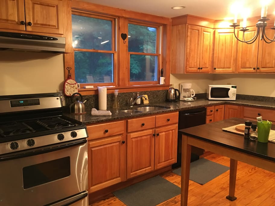 We have an open concept farmhouse kitchen.