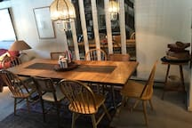 Dining area, seats 8