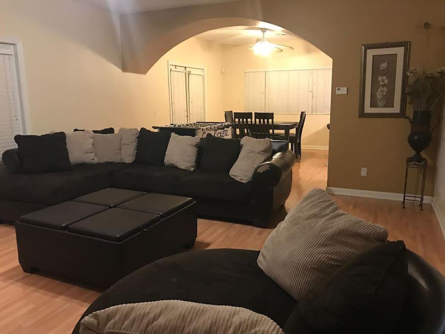 Living room open space