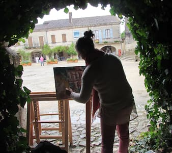 les volets rouges - Labastide-d'Armagnac
